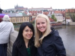 Claudia and I on Charles Bridge